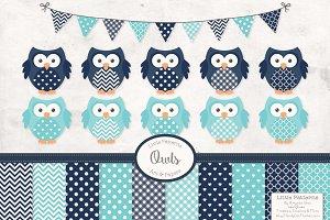 Blue Owl Clipart
