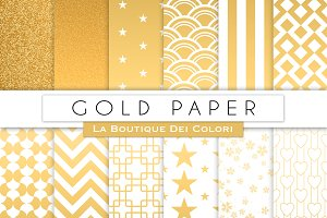 Gold Digital Paper