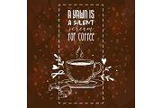 Coffee pattern vector coffeecup