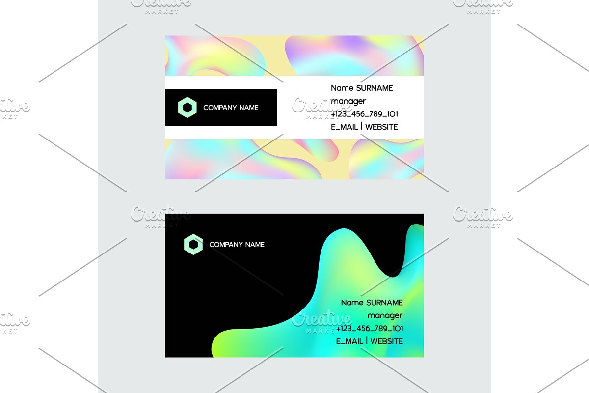 Holographic vector hologram business in Illustrations - product preview 8