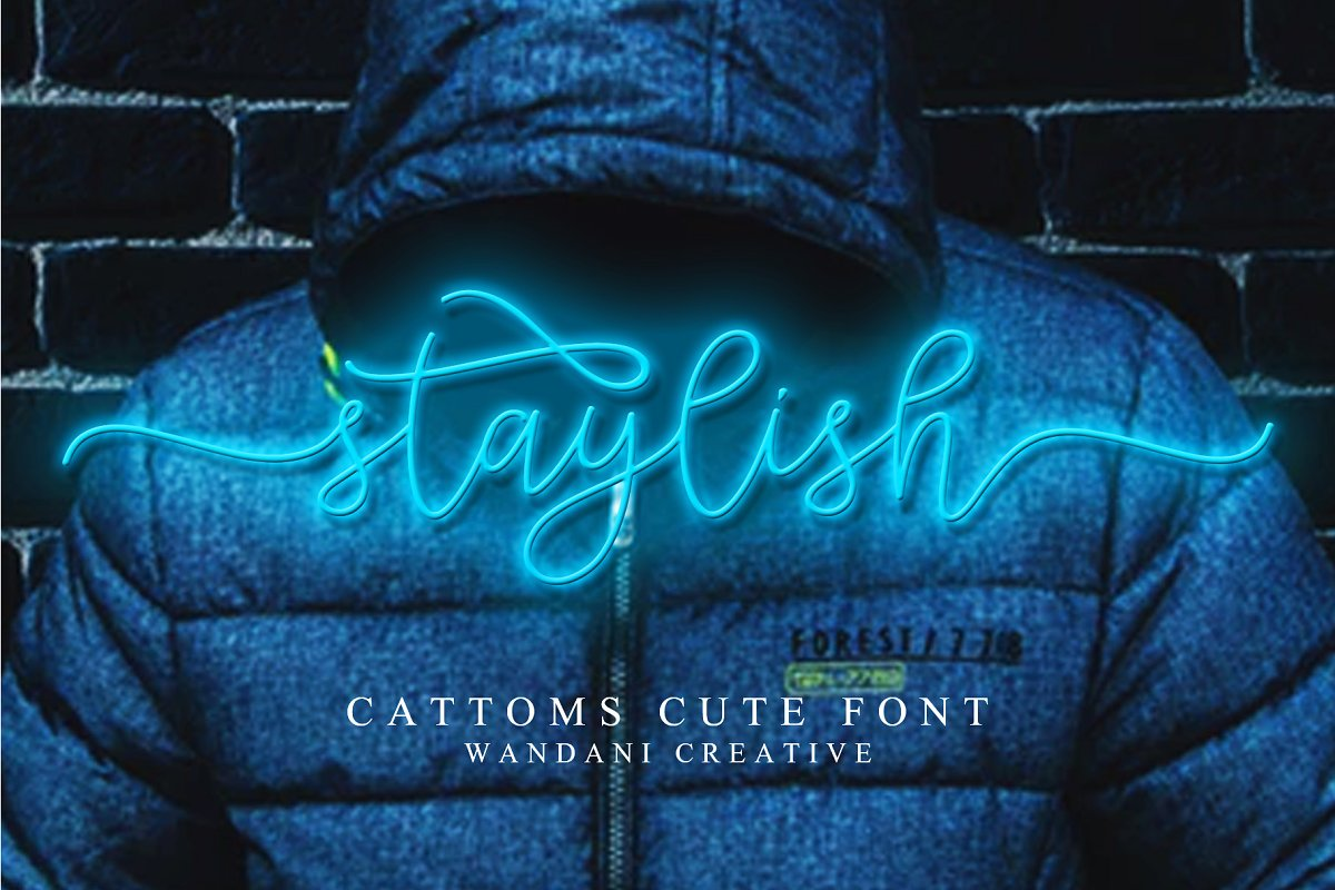 Cattoms Cute Script Fonts in Cute Fonts - product preview 6