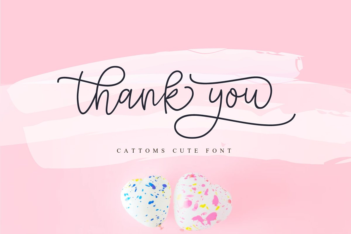 Cattoms Cute Script Fonts in Cute Fonts - product preview 10