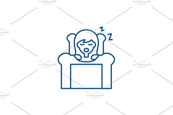 Deep sleep line icon concept. Deep