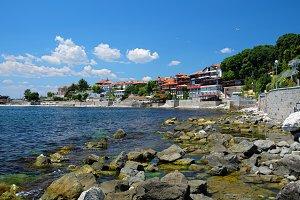 Coast in city of Nessebar, Bulgaria