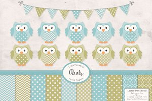 Vintage Boys Owl Vectors & Papers