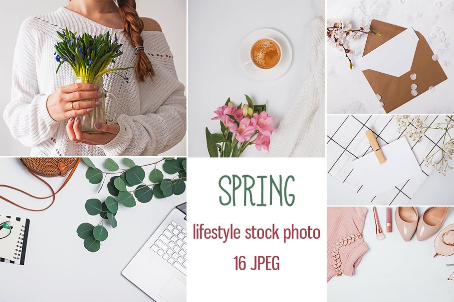 Styled stock photo. Spring set.