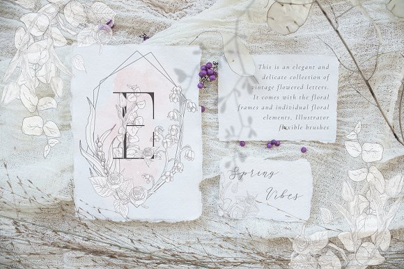 Spring Vibes ~ Floral Alphabet in Graphics - product preview 1