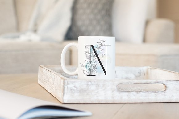 Spring Vibes ~ Floral Alphabet in Graphics - product preview 4