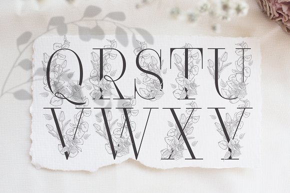 Spring Vibes ~ Floral Alphabet in Graphics - product preview 7
