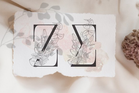 Spring Vibes ~ Floral Alphabet in Graphics - product preview 8
