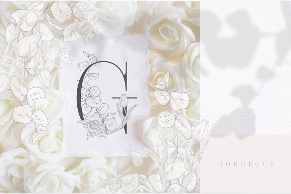 Spring Vibes ~ Floral Alphabet in Graphics - product preview 10