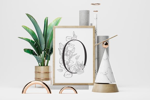 Spring Vibes ~ Floral Alphabet in Graphics - product preview 13