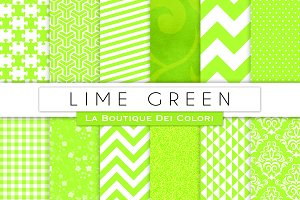 Lime Green Digital Paper