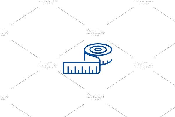Dress meter line icon concept. Dress