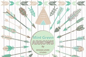 VECTOR Mint Arrows clipart
