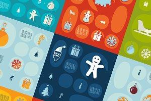 9 Christmas flat infographics