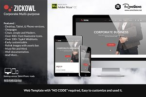 Zickowl - Corporate Muse Template