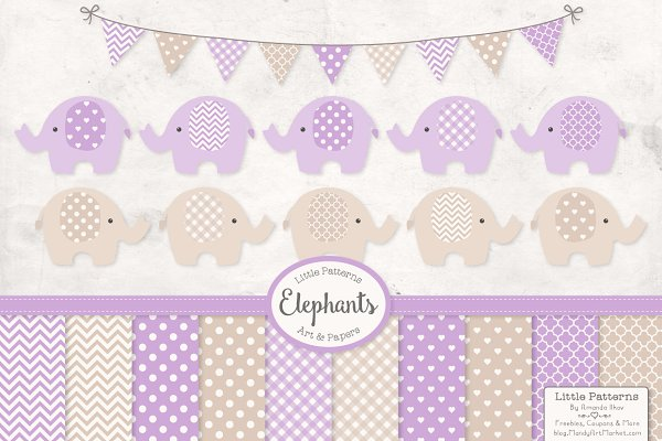 Lavender Elephant Graphics