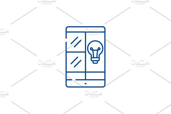 Phablet idea line icon concept