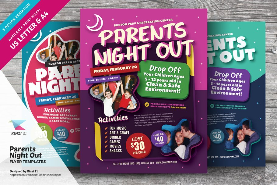 Parents Night Out Flyer Templates