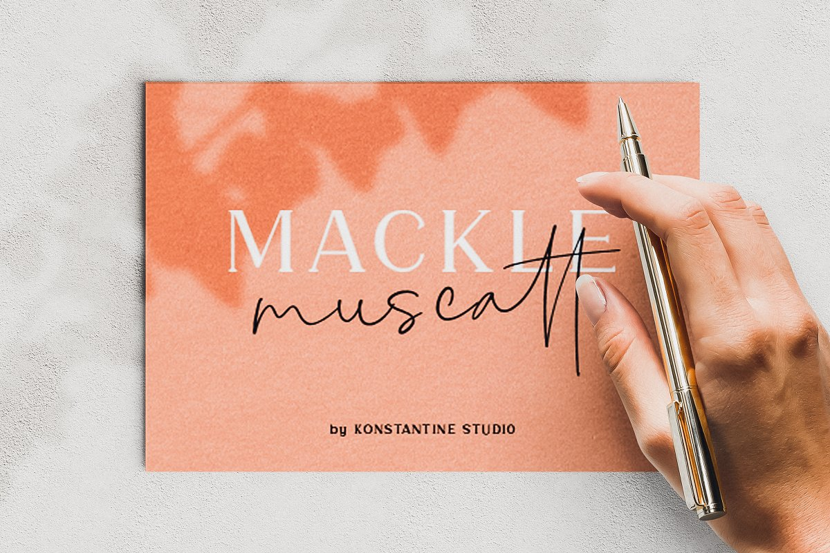 MACKLE   Serif & Handwriting Script