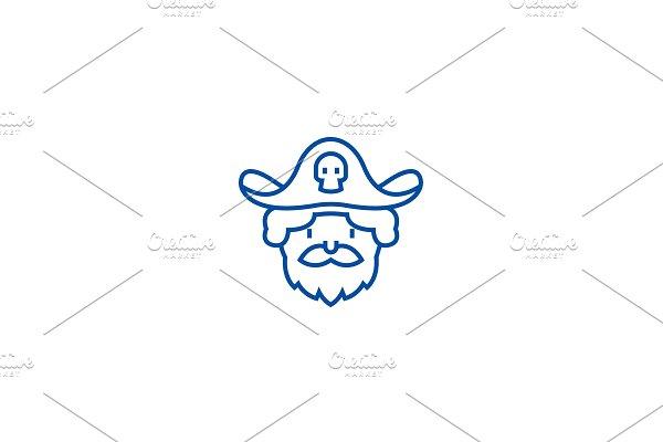 Pirate line icon concept. Pirate