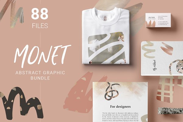 Monet Abstract Graphics Bundle