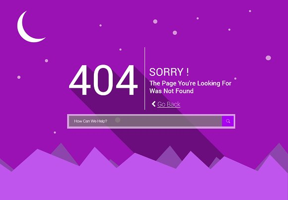 Material Design 404 Page