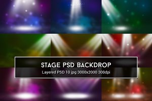 Show Stage PSD Backdrop