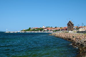 View on old city of Nessebar