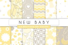New Baby Digital Papers