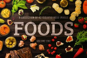 FOODS: 43 Isolated Food Images