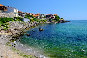 View of coast in town of Sozopol