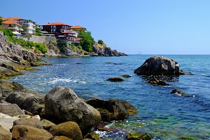 Coast in old town of Sozopol