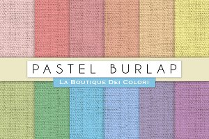 Pastel Burlap Digital Papers