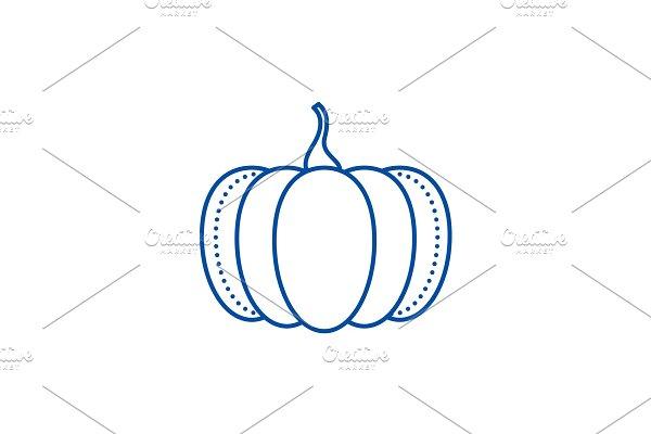 Pumpkin line icon concept. Pumpkin