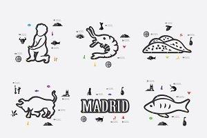 9 Spain infographics