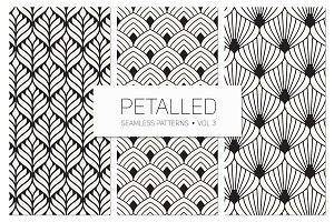 Petalled Seamless Patterns Set 3