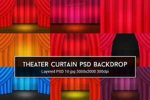 Theater Curtain PSD Backdrop