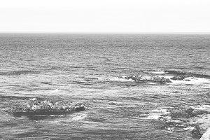 Moody Pacific Ocean
