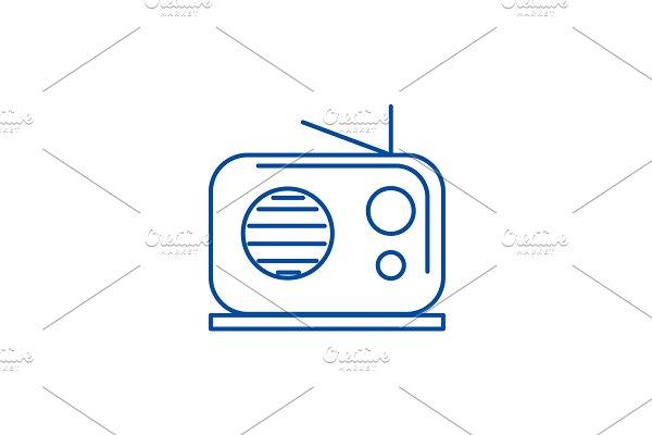 Radio reciever line icon concept