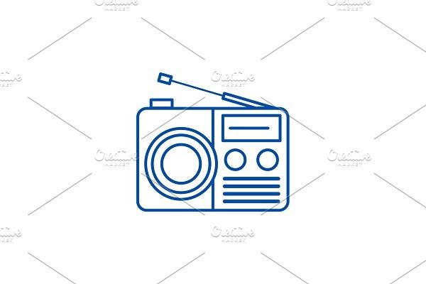 Radio reciever sign line icon