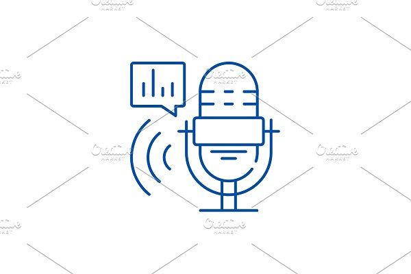 Radio show line icon concept. Radio