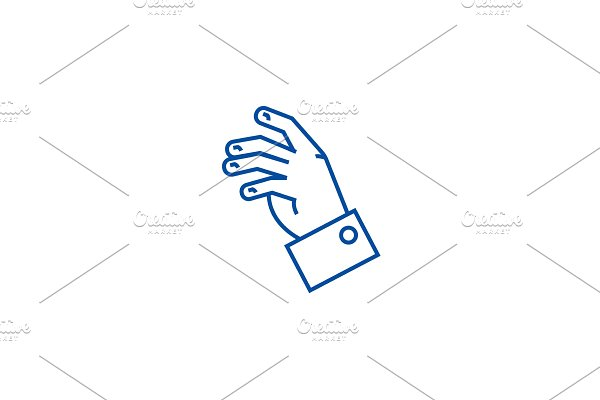 Relax hand line icon concept. Relax
