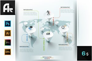 Modern Infographic Map Template