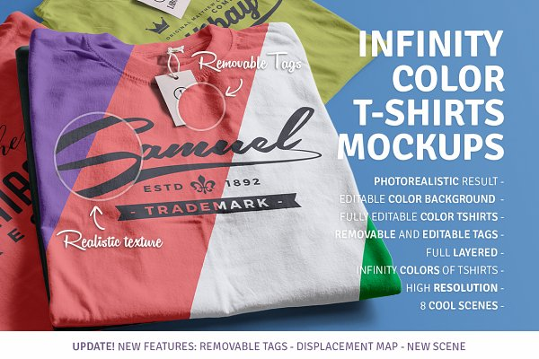 Infinity Color T-Shirt Mockups