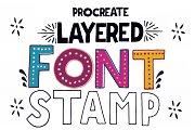 Procreate - Layered Font Stamp A-Z