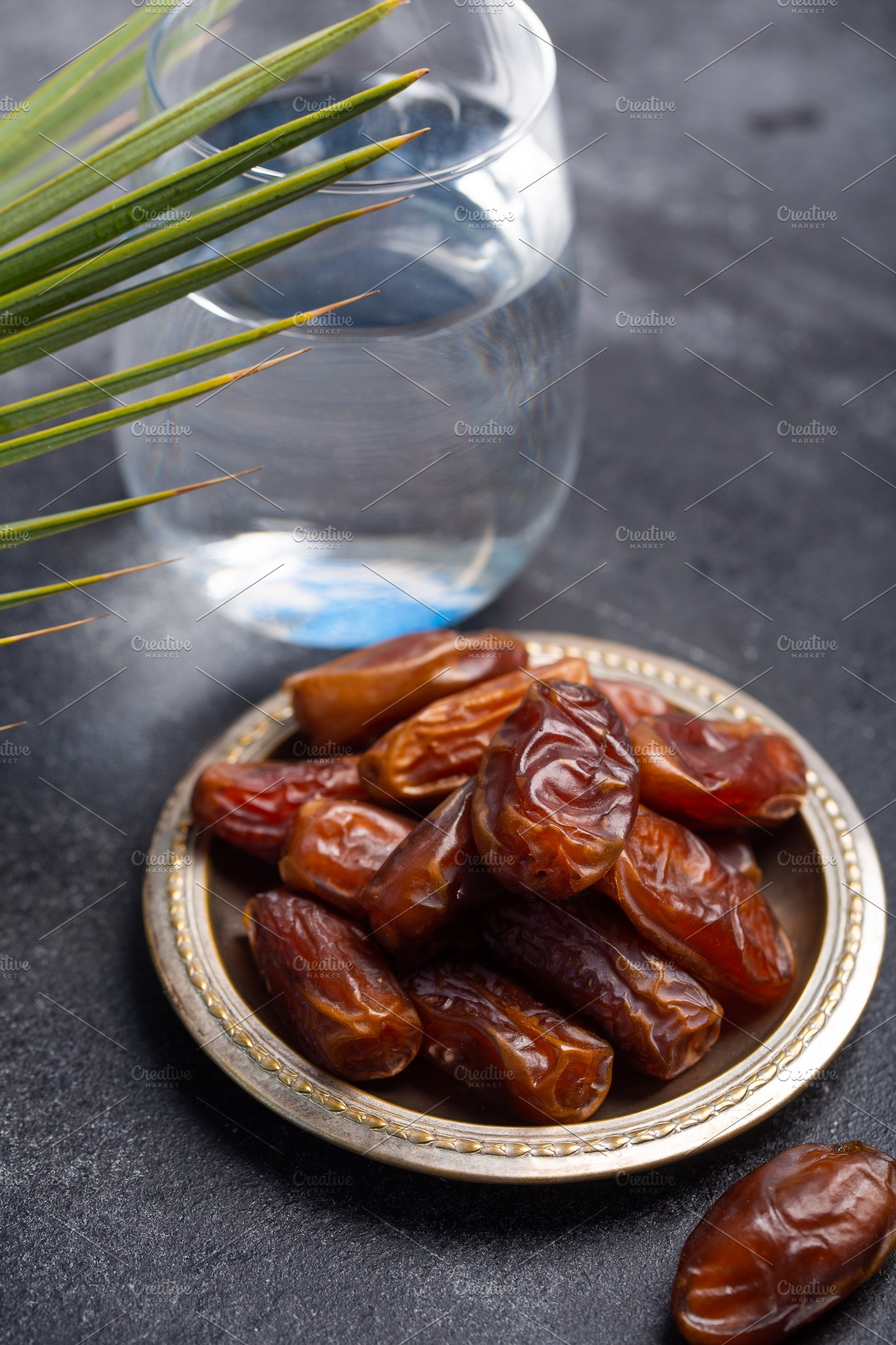 Ramadan dates and water is tradition