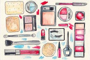 MakeUp Watercolor set