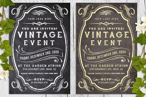 Vintage Chalk and Foil Flyer Bundle